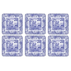 Pimpernel Blue Italian drinks coaster set by Spode
