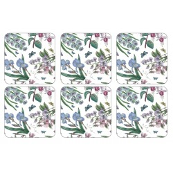 Pimpernel Botanic Garden Chintz drinks coasters, set of 6 classic floral design