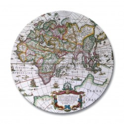 image two for Antique map design placemats round
