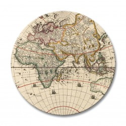 Antique Maps round drinks coasters