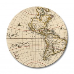 Antique Maps round drinks coasters image two