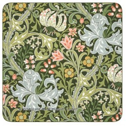 Castle Melamine William Morris Golden Lily drinks coaster