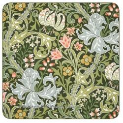 Castle Melamine William Morris Golden Lily drinks coaster