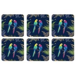 Pimpernel Sara Miller Parrot set of 6 drinbks coasters