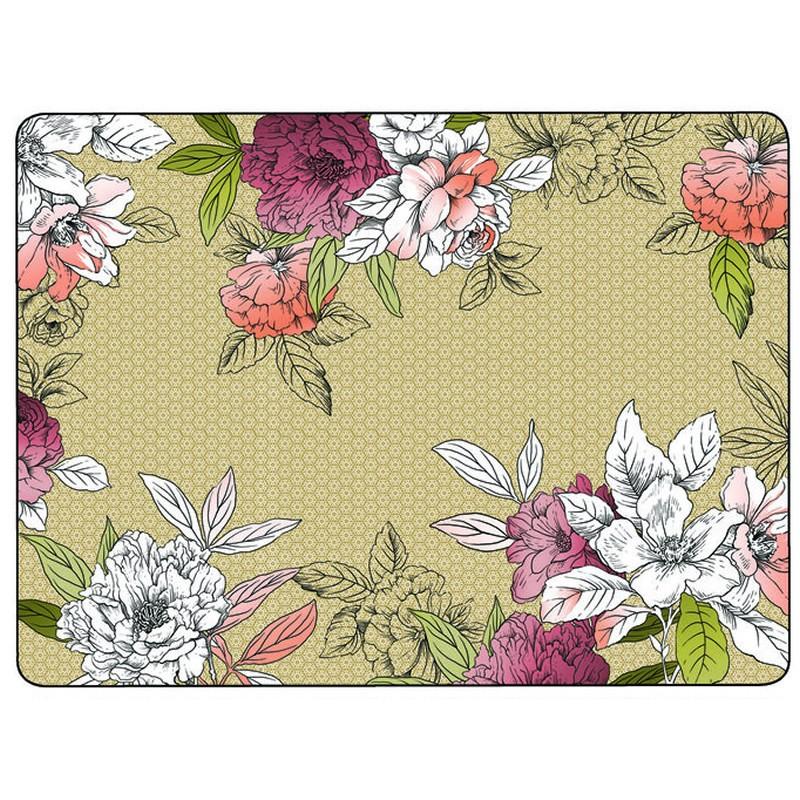 Pimpernel Floral Sketch Large Placemats