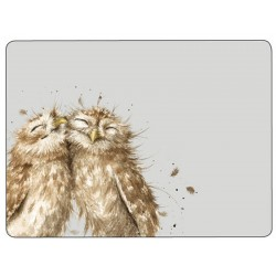 Wrendale Owl cork backed placemats