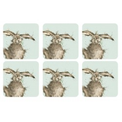 Wrendale Hare Coasters set of six