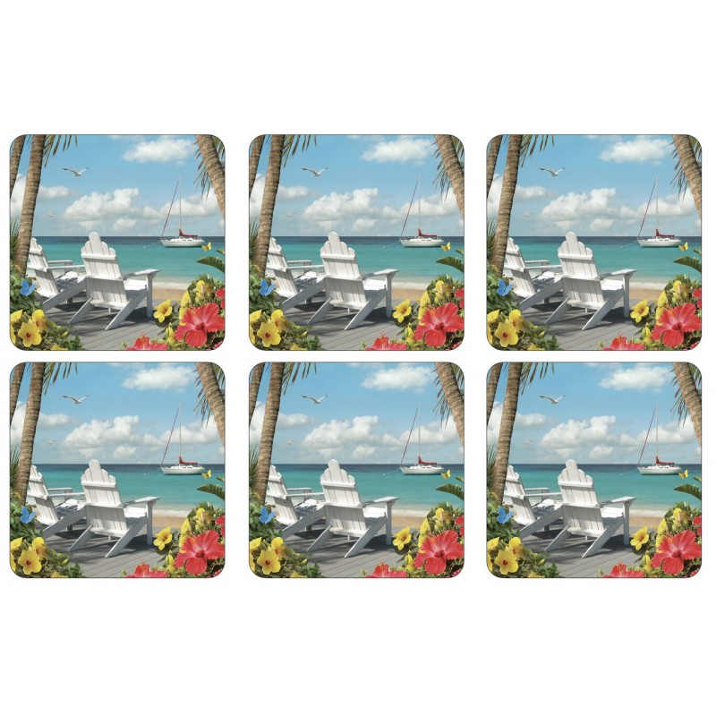 Pimpernel In the Sunshine drinks coasters