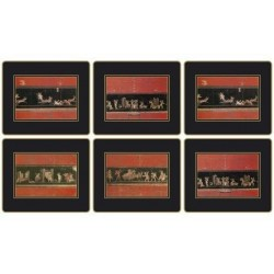 Lady Clare Pompeii Coasters all six