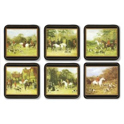 Pimpernel Tally Ho 6 drinks coasters