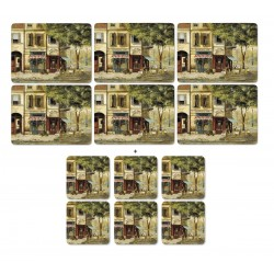 Pimpernel Parisian Scene 6 tablemats and 6 coasters pack
