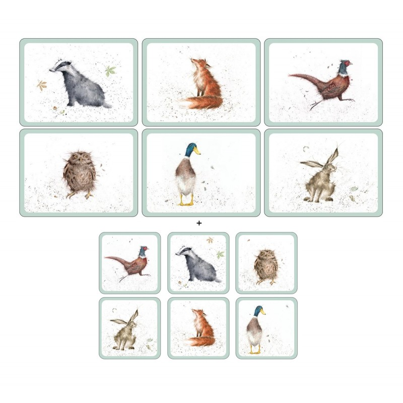 Wrendale Designs 6 tablemats and 6 coasters pack