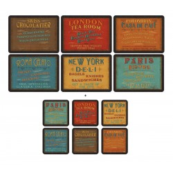Pimpernel Lunchtime 6 tablemats and 6 coasters pack
