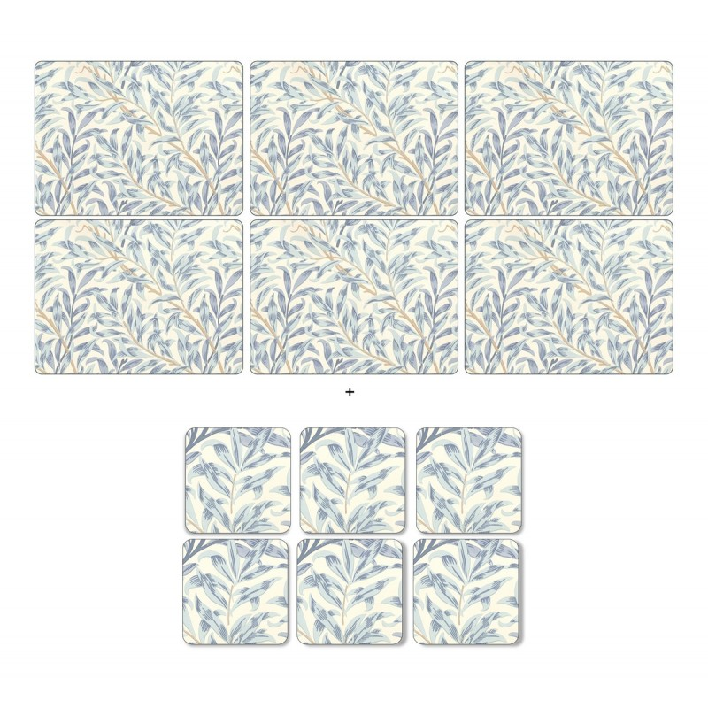Pimpernel Willow Bough Blue 6 table mats and 6 coasters