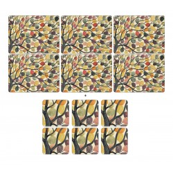 Pimpernel Dancing Branches 6 tablemats and 6 coasters pack