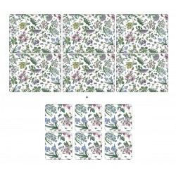 Pimpernel Botanic Garden Chintz 6 floral tablemats and 6 coasters corkbacked