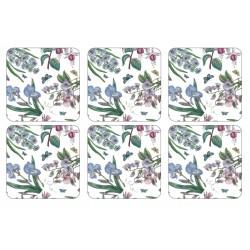 Pimpernel Botanic Garden Chintz 6 coasters corkbacked