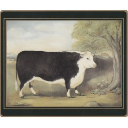 Lady Clare Traditional Naive Animals Placemats - Bull