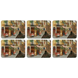 Plymouth Pottery Cafe Scene Placemats set of 6