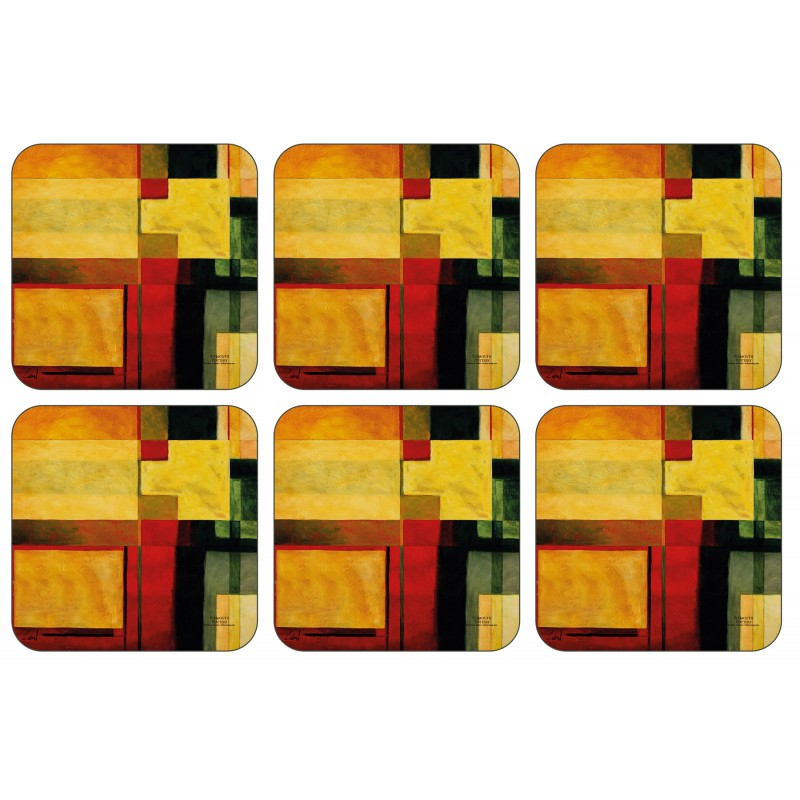 Radiance drinks coasters set by Plymouth Pottery
