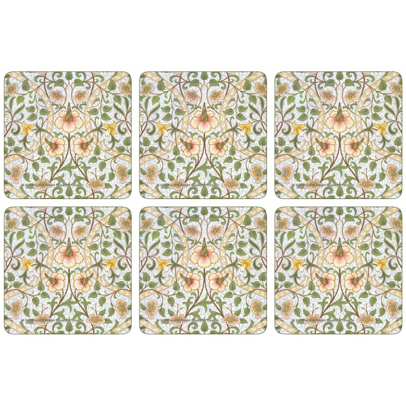 Castle Melamine William Morris Daffodil Coaster