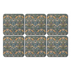 Castle Melamine Wm Morris Strawberry Thief Coaster