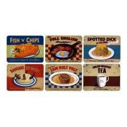 Castle Melamine Nostalgic Food Tablemats Set of 6