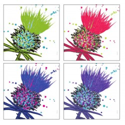 Castle Melamine Scott Inness Thistle Square Placemats