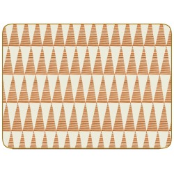 Pittman Orange Triangles Placemats