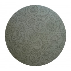 DOrient Urban Pepper Grey Silicone Round Placemats