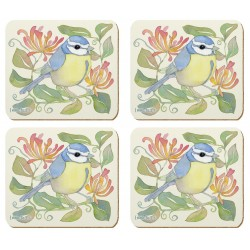 Emma Ball Birds and Honeysuckle Coaster