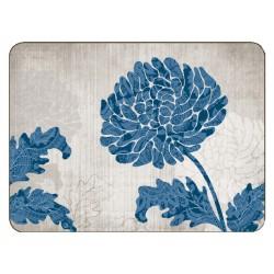 Jason Chrysanthemum Blue Placemats